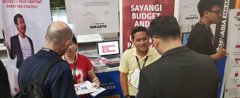 Tech in Asia 2018, Jakarta Convention Center - FlazzTax