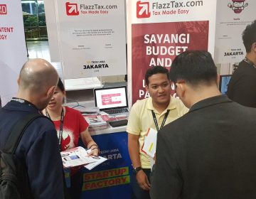 Tech in Asia 2018, Jakarta Convention Center - FlazzTax